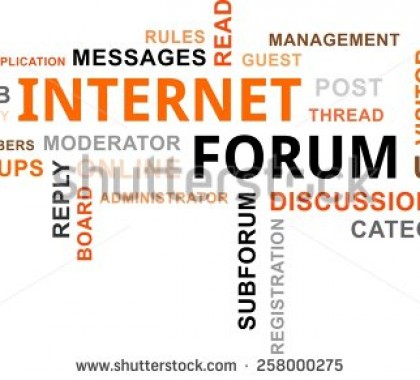Basics about Internet forums
