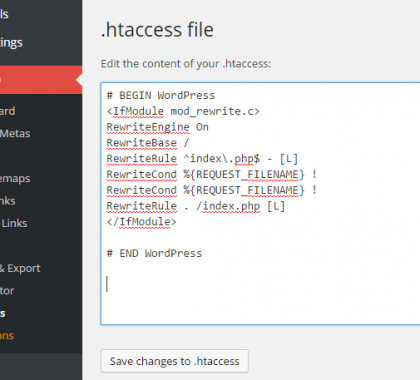 Basics of .htaccess file